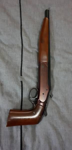 410 shotgun , Sawed off 410 single shot shotgun with pistol
