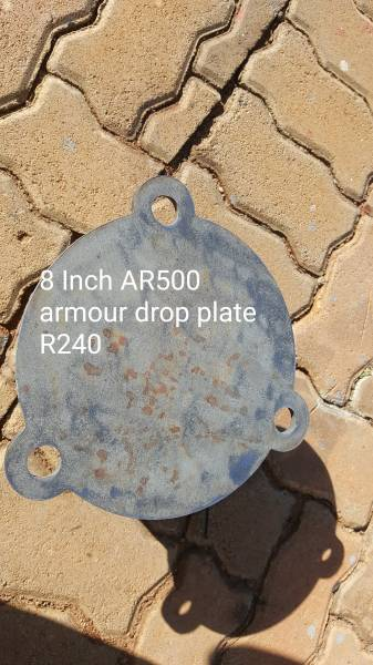Armour plate targets, 1/4 inch thick AR500 target plates for