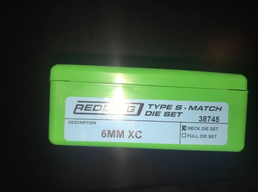 Redding 6mm Xc Type S Match Dies Brand New Never Been