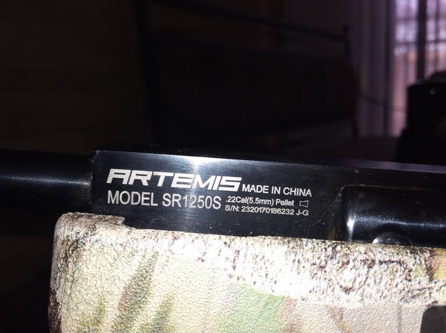 Artemis 5 5 mm gas air gun, Still brand new only a few shots done