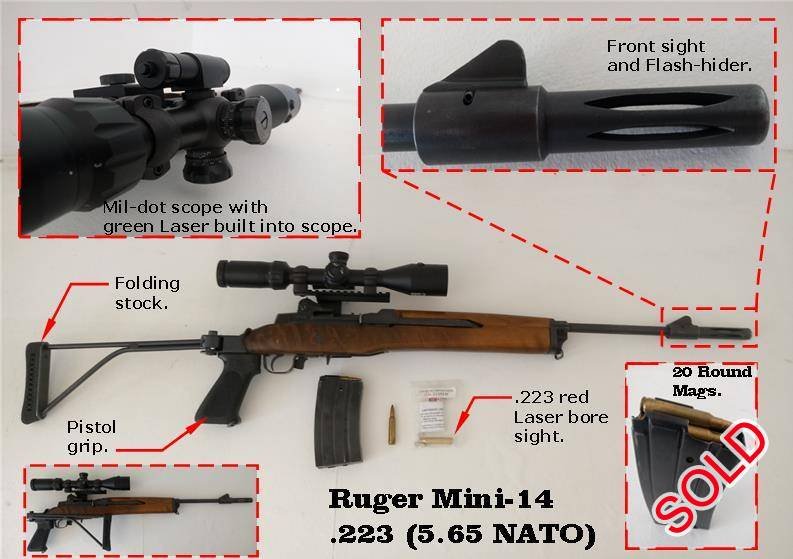 Ruger Mini-14, R 12,500 00